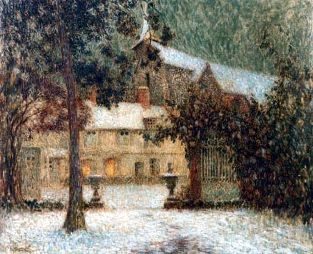 Henri Le Sidaner - Snow covered House, Gerberoy
