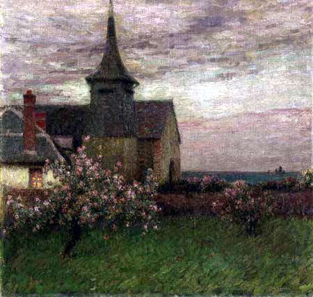 Henri Le Sidaner - The presbytery and the church of Gerberoy