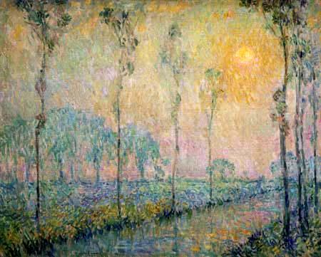 Henri Le Sidaner - Der Bach in der Morgensonne, Bretagne