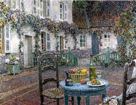 Henri Le Sidaner - The blue table
