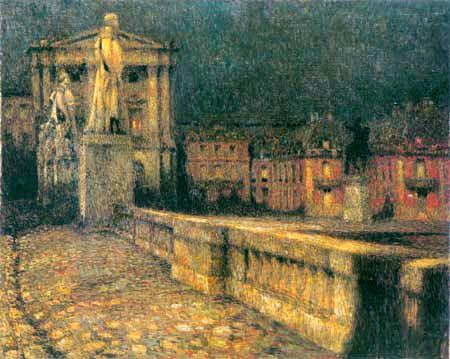 Henri Le Sidaner - La cour d'honneur à Versailles