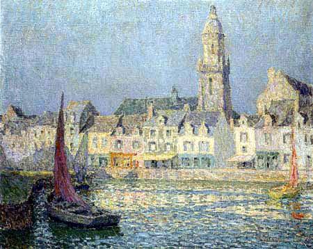 Henri Le Sidaner - The Port of Croisic, Summer Morning