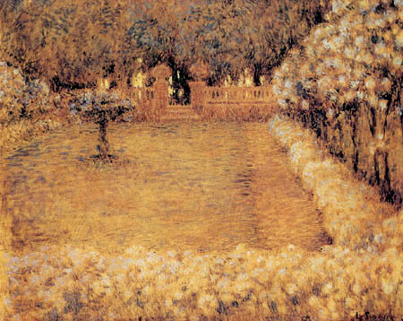 Henri Le Sidaner - The Garden of Gerberoy at Sunset