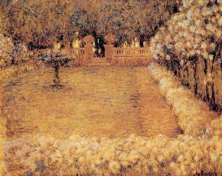 Henri Le Sidaner - Der helle Garten von Gerberoy