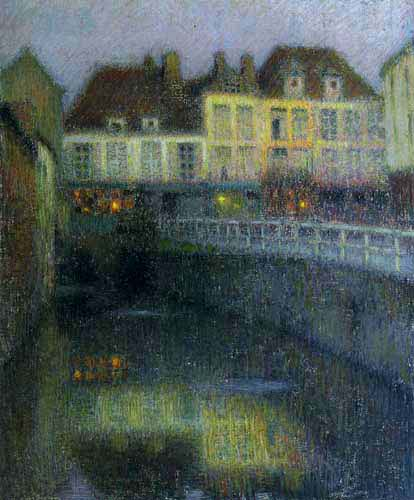 Henri Le Sidaner - Canal in Amiens