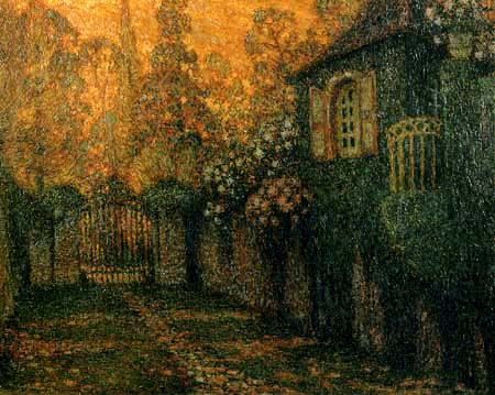 Henri Le Sidaner - Pavilion and Avenue