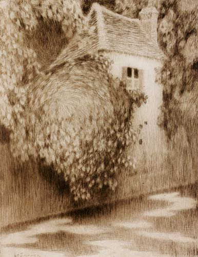 Henri Le Sidaner - The pavilion among the trees