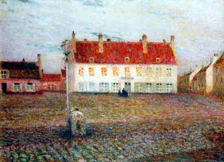 Henri Le Sidaner - Square in Petit-Fort-Philippe
