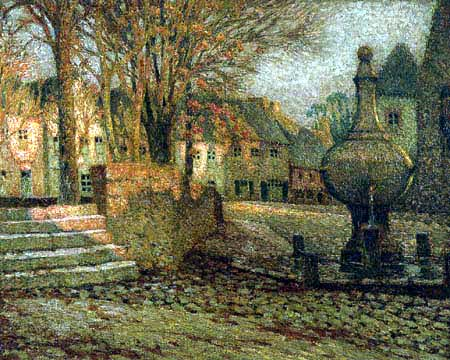 Henri Le Sidaner - The square in Pontrieux