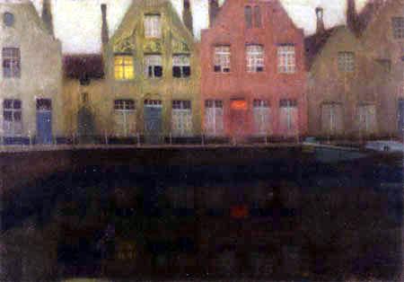 Henri Le Sidaner - Qayside, Bruges