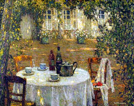 Henri Le Sidaner - The Table in the Sunlight