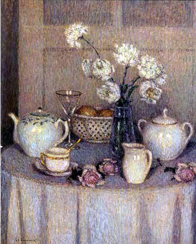 Henri Le Sidaner - Der weiße Tisch