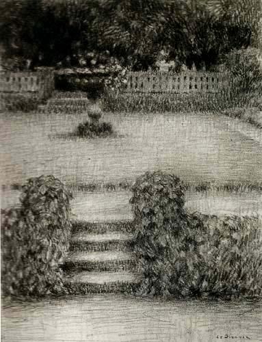 Henri Le Sidaner - Le perron, Gerberoy