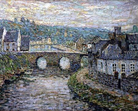 Henri Le Sidaner - The Bridge in Dinan
