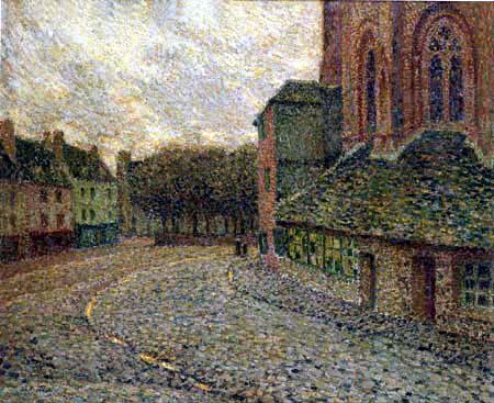Henri Le Sidaner - The church in Tréguier