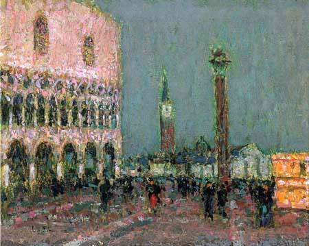 Henri Le Sidaner - The Piazzetta in Venice