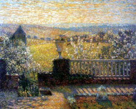 Henri Le Sidaner - Die Terrasse in Gerberoy