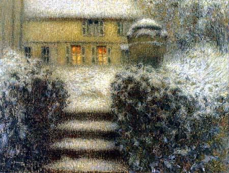 Henri Le Sidaner - Die Treppe in Gerberoy