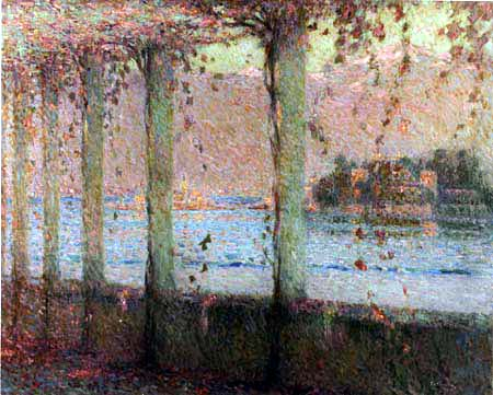 Henri Le Sidaner - Vine-covered arbor on the Isola Bella