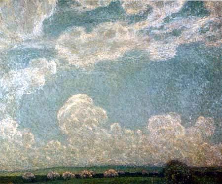 Henri Le Sidaner - Sky in Springtime, Gerberoy