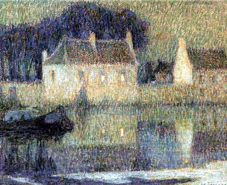 Henri Le Sidaner - House on a canal, Bruges