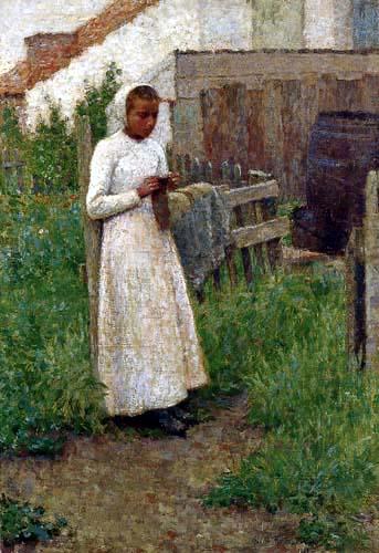 Henri Le Sidaner - A young Breton Girl, Étaples