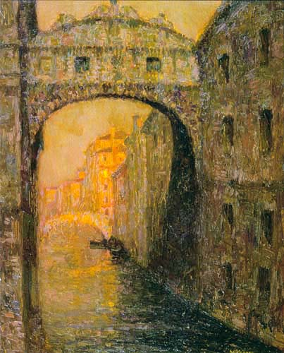 Henri Le Sidaner - Bridge of Sighs in Venice