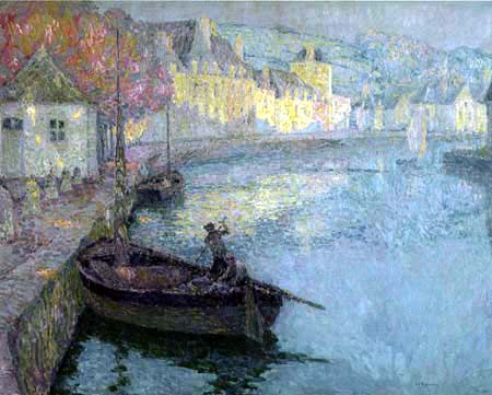 Henri Le Sidaner - A clear morning in Quimperlé