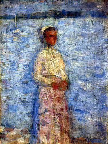 Henri Le Sidaner - Kleines Mädchen vor der Mündung, Étaples