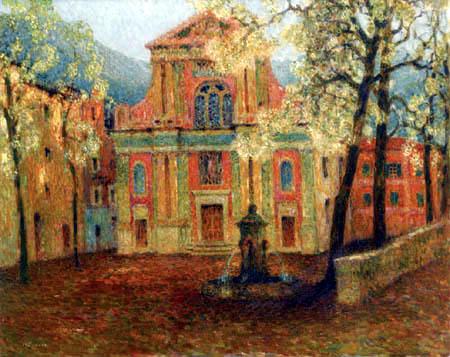 Henri Le Sidaner - Die Kirche von Dolceacqua