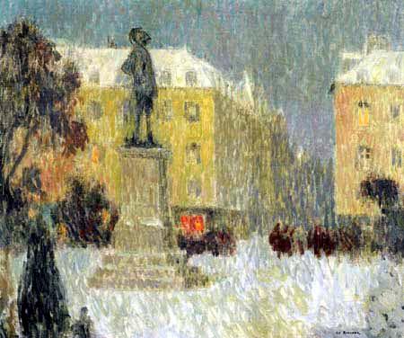 Henri Le Sidaner - La Place Hoche, Versailles