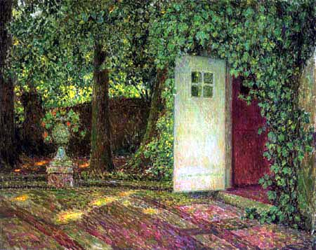 Henri Le Sidaner - The door with foliage