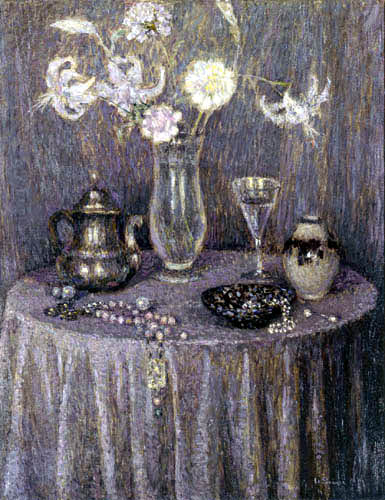Henri Le Sidaner - Der runde Tisch