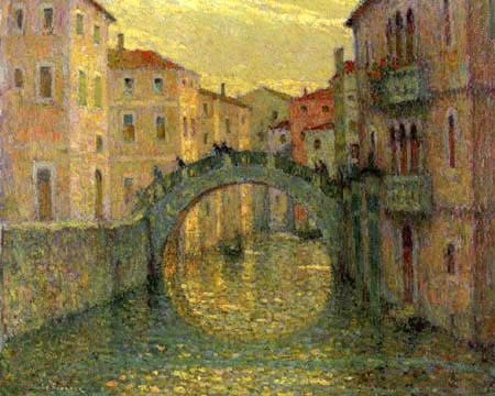 Henri Le Sidaner - The morning sun, Venice