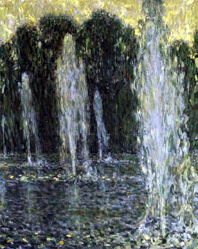 Henri Le Sidaner - Water Jets, Versailles