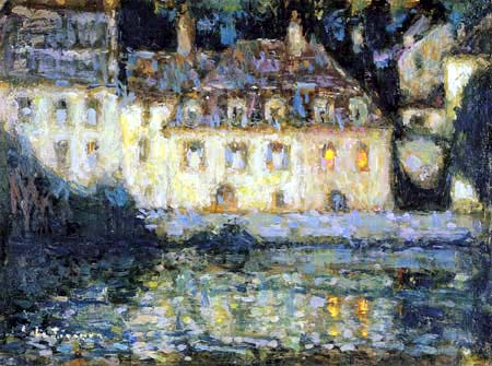 Henri Le Sidaner - Weiße Häuser am Abend, Quimperlé