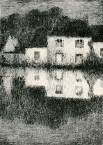 Henri Le Sidaner - Moonlight in Berneval