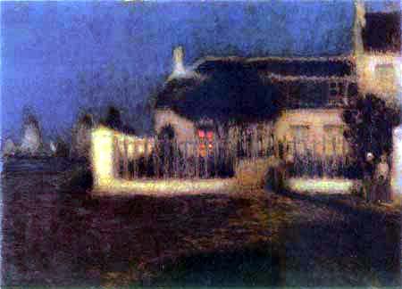 Henri Le Sidaner - Mondlicht in Heyst