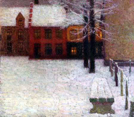 Henri Le Sidaner - Snow in Bruges