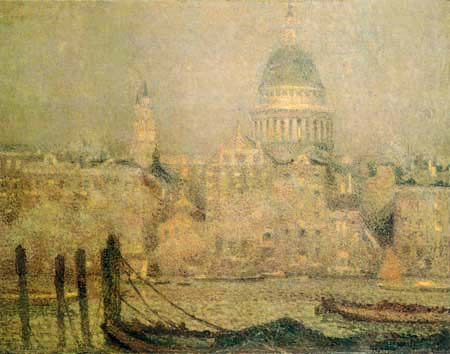 Henri Le Sidaner - Saint Paul, London