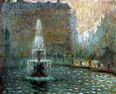 Henri Le Sidaner - Trafalgar Square, London