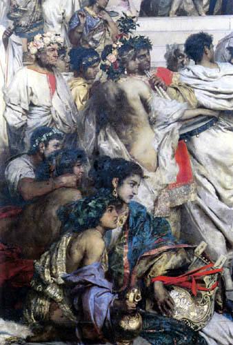 Henryk Siemieradzki - Las antorchas de Nero, detalle