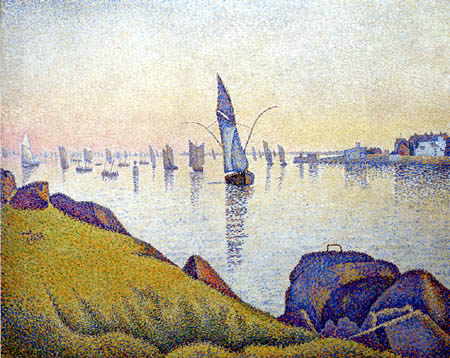 Paul Signac - Evening Calm, Concarneau