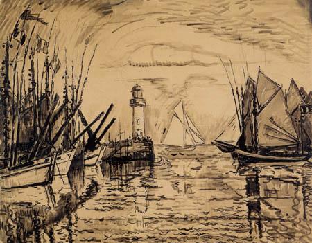 Paul Signac - Der Leuchtturm von Groix