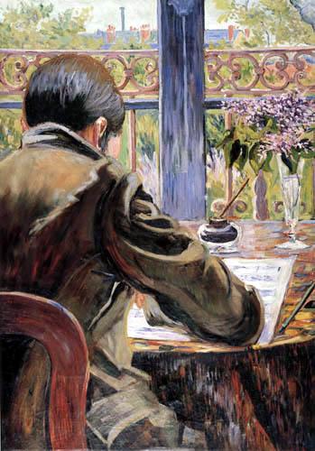 Paul Signac - Asnières Study: Charles Torquet seen from behind