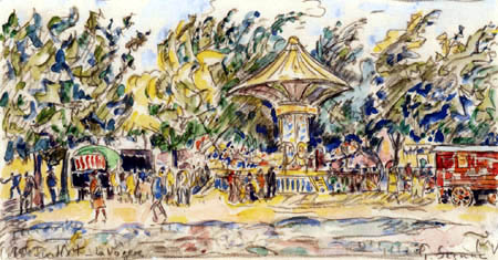 Paul Signac - Village Festival