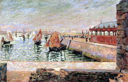 Paul Signac - The Fish Market, Port-en-Bessin