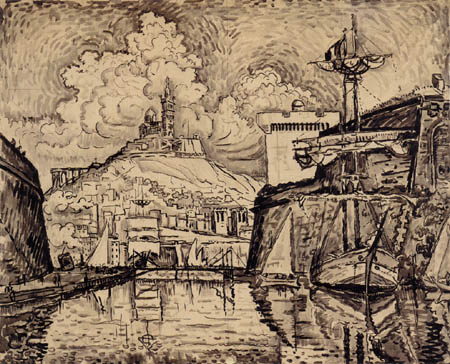 Paul Signac - The Port of Marseilles