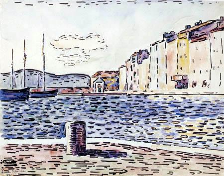 Paul Signac - The Port of Saint-Tropez