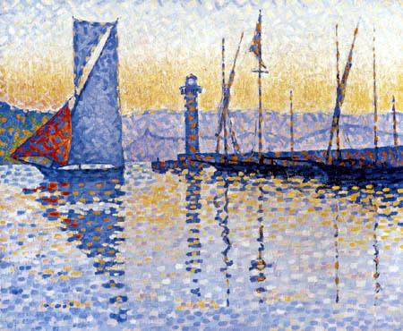 Paul Signac - Der Leuchtturm von Saint-Tropez